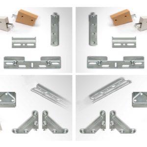 Supports pour étagères et suspension de modules